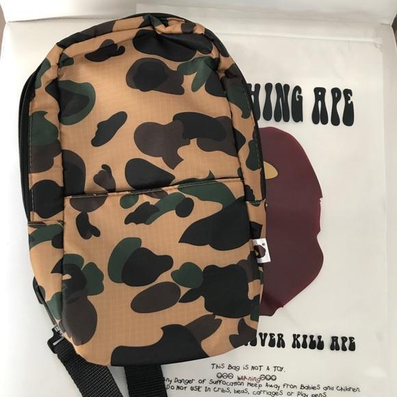 490b4c8c9bd1 Bape Bags | A Bathing Ape Camo Crossbody One Shoulder Bag | Poshmark